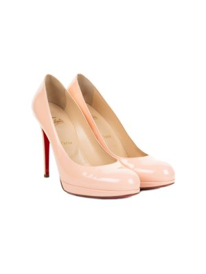Classic Nude Patent Leather Pumps by Christian Louboutin - Le Dressing Monaco