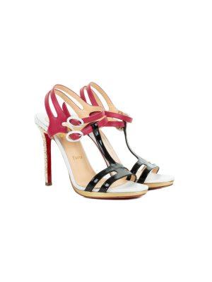Salomé Sandals Glitter Heels by Christian Louboutin - Le Dressing Monaco