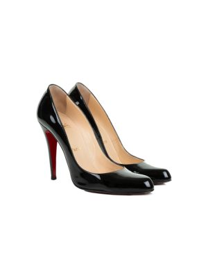 Classic Black Patent Leather Pumps by Christian Louboutin - Le Dressing Monaco