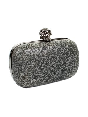 Stingray Embossed Skull Clutch by Alexander McQueen - Le Dressing Monaco