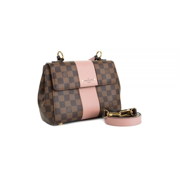 Damier Ebene Canvas & Leather Flap Bag by Louis Vuitton - Le Dressing Monaco