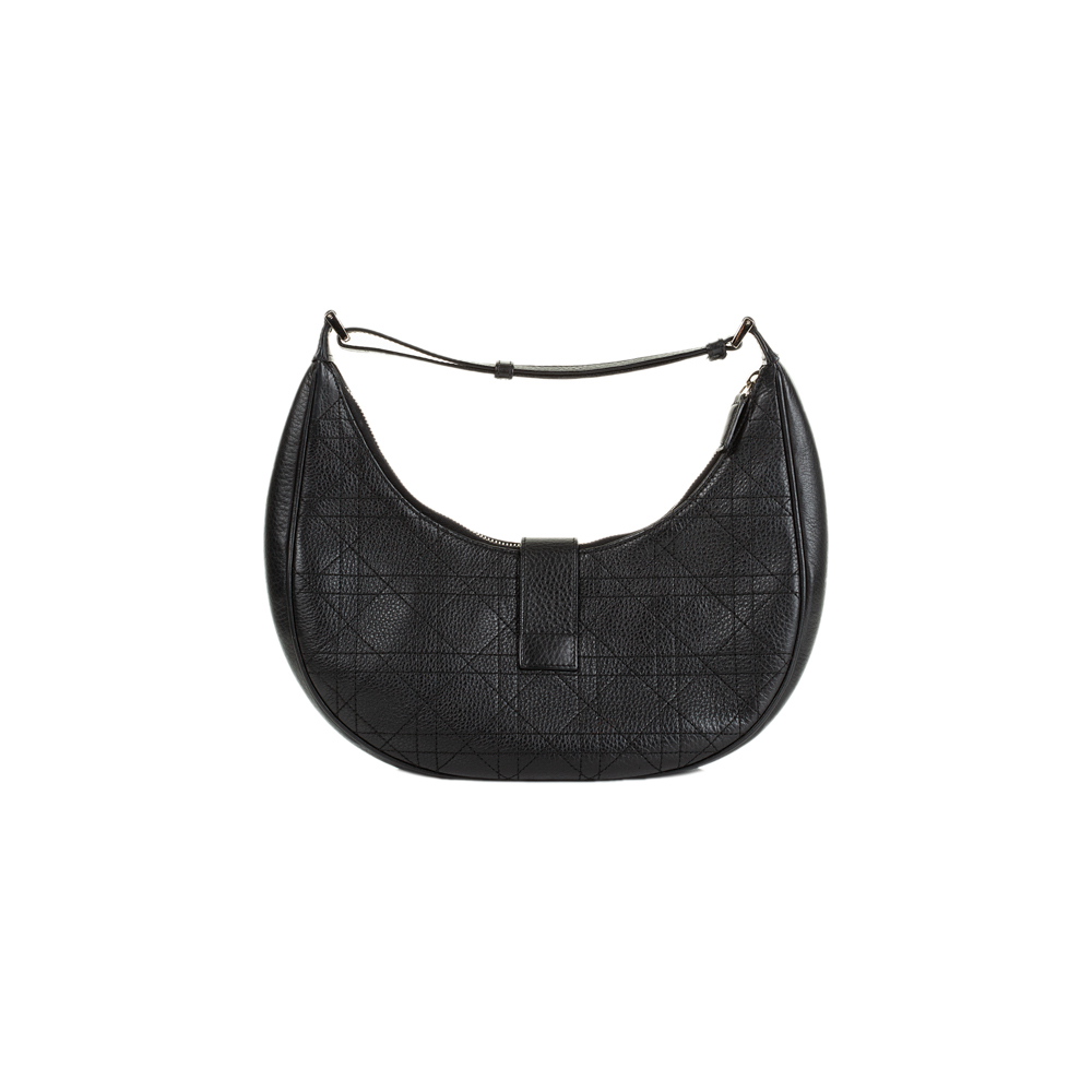 ... Black Leather Half Moon Handbag by Christian Dior - Le Dressing Monaco. Christian  Dior 18cbf9eedafd6