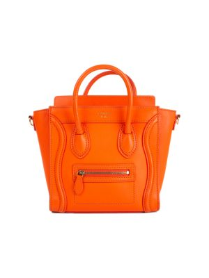 Orange Nano Luggage Handbag by Céline - Le Dressing Monaco