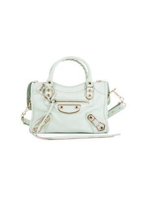 Small Pastel Green City Handbag by Balenciaga - Le Dressing Monaco