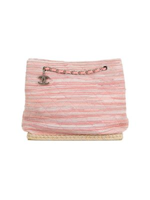 Pink Espadrille Shopper by Chanel - Le Dressing Monaco