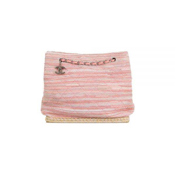 Pink Espadrille Shopper by Chanel - Le Dressing Monaco