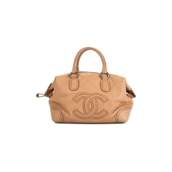 CC Leather Bowling Handbag by Chanel - Le Dressing Monaco
