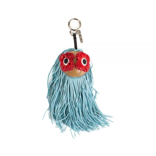 Leather Poppy Eyes Monster Bag Charm by Fendi - Le Dressing Monaco