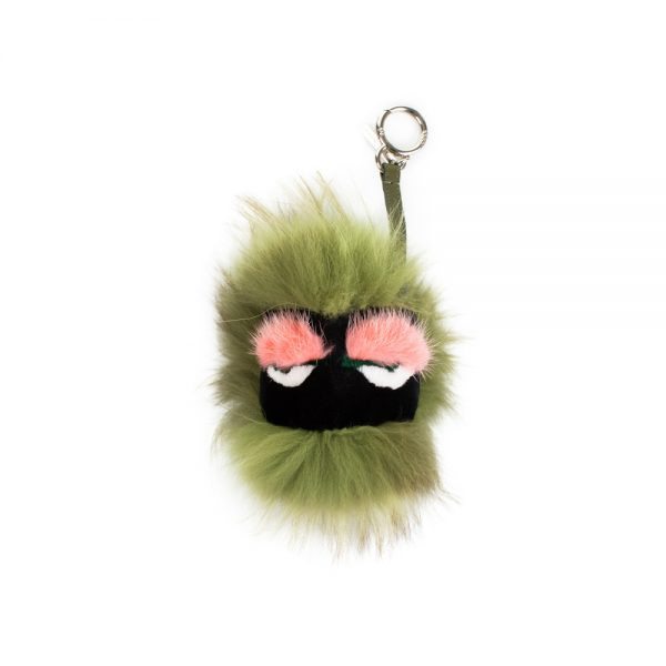 Green Blitzen Monster Bag Charm by Fendi - Le Dressing Monaco