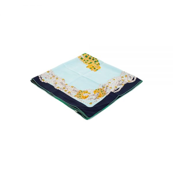 Leopard and Pearls Must Silk Scarf by Cartier - Le Dressing Monaco
