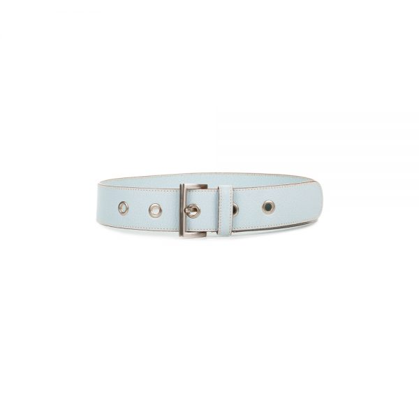 Light Blue Leather Belt by Prada - Le Dressing Monaco