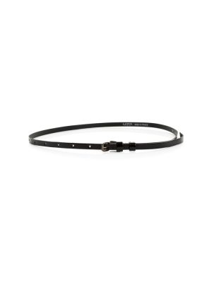 Black Thin Patent Leather Belt by Lanvin - Le Dressing Monaco