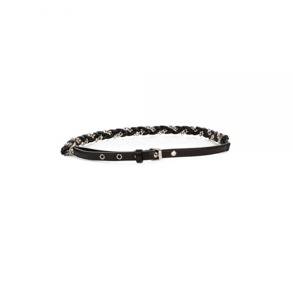 Braided Leather And Chains Belt by Dolce e Gabbana - Le Dressing Monaco