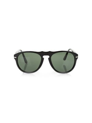 Black Plain Plastic Sunglasses by Persol - Le Dressing Monaco