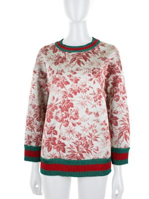 Nature printed Jumper Lurex Collar by Gucci - Le Dressing Monaco