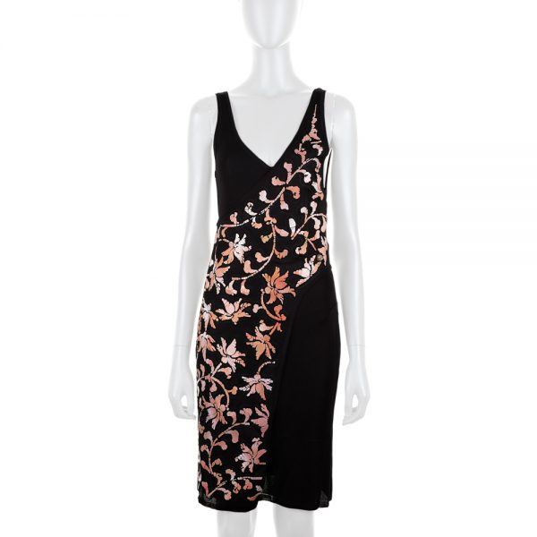 Asymmetric Two Pieces Dress Pink Flowers by Chanel - Le Dressing Monaco