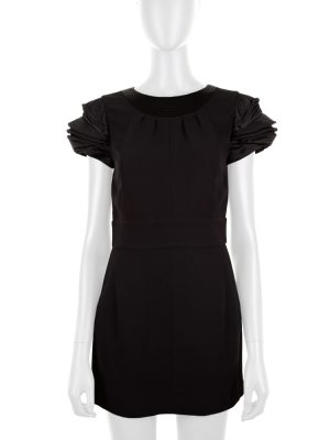 Black Mini Cocktail Silk Dress by Chanel - Le Dressing Monaco