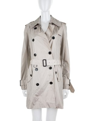 Beige Nylon Light Trench by Burberry - Le Dressing Monaco