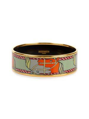 Enameled Horses Bracelet by Hermès - Le Dressing Monaco