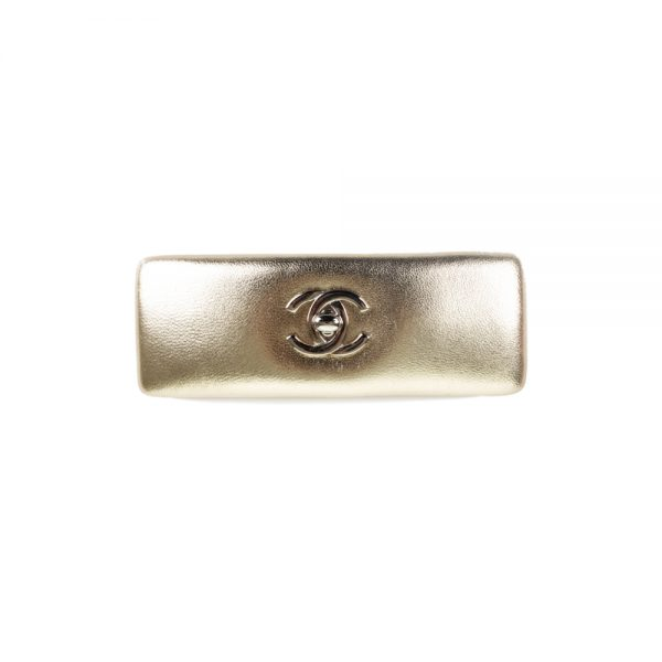 Gold Turnlock Hair Clip by Chanel - Le Dressing Monaco