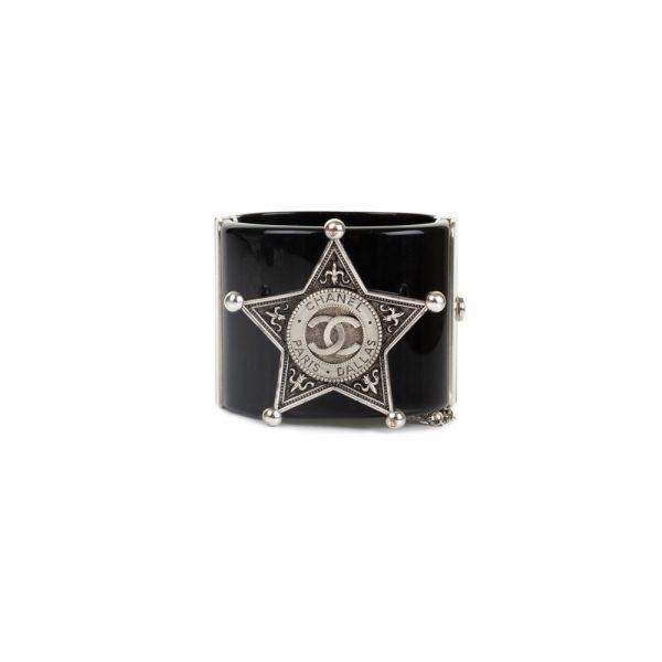 Black Plexi Manchette Paris Dallas by Chanel - Le Dressing Monaco