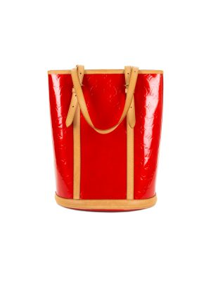 Red Patent Leather Bucket Handbag by Louis Vuitton - Le Dressing Monaco
