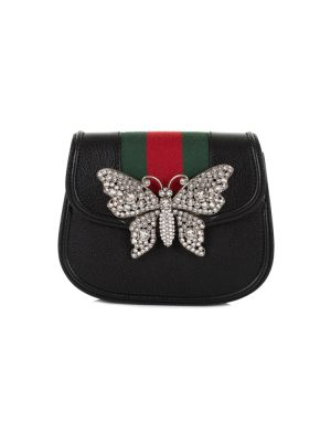 Strass Butterfly Crossbody Leather Handbag by Gucci - Le Dressing Monaco