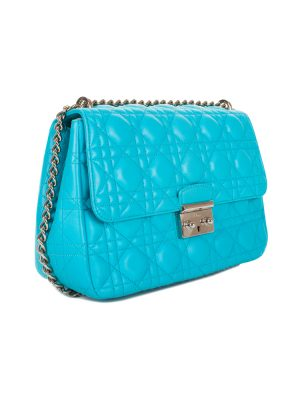 Turquoise Lady Dior Flap Bag by Christian Dior - Le Dressing Monaco