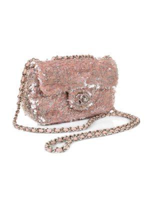Pink Mini Sequin Flap Bag by Chanel - Le Dressing Monaco