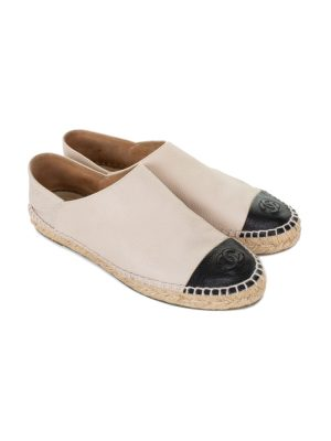 Bicolor Leather Espadrilles by Chanel - Le Dressing Monaco