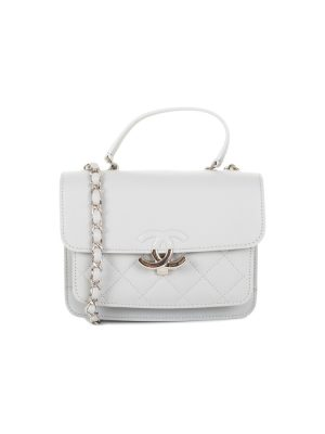 Two Compartment Light Grey Flap Bag by Chanel - Le Dressing Monaco