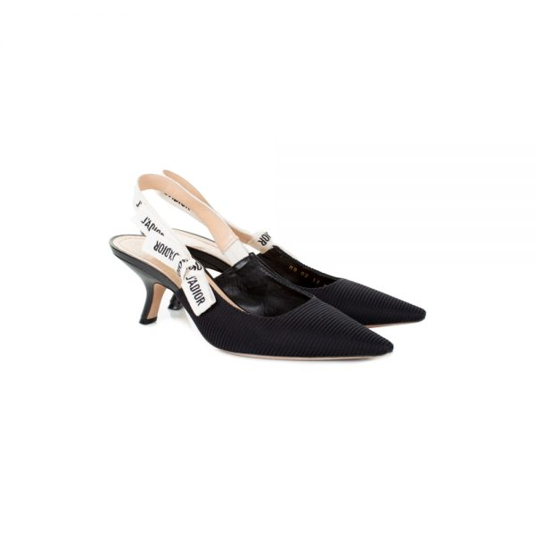 J'Adior Slingback Pumps In Technical Fabric by Dior - Le Dressing Monaco