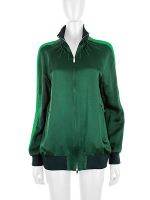 Green Bomber Jacket by Valentino - Le Dressing Monaco