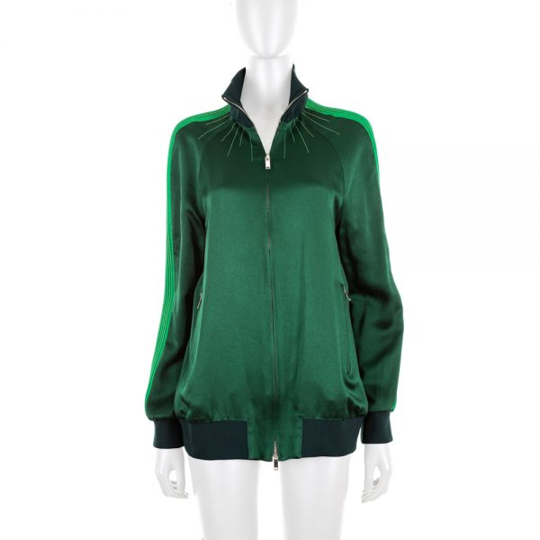 Green Bomber Jacket by Valentino - Le Dressing Monaco