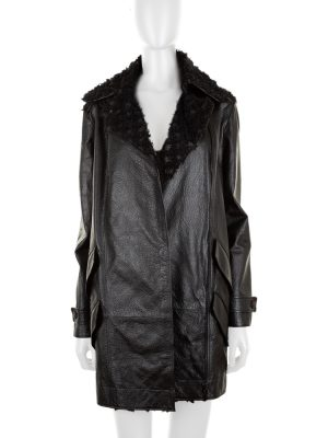 Black Zipped Leather Jacket by Chanel - Le Dressing Monaco