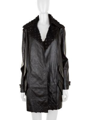 Black Zipped Leather Jacket by Chanel - Le Dressing Monaco
