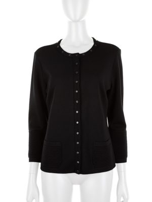 Jersey Cardigan Metal Buttons by Escada - Le Dressing Monaco