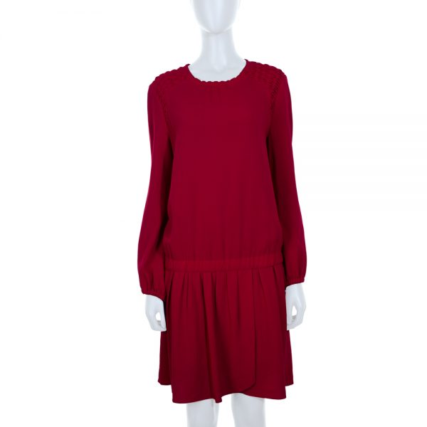 Red Dress Smock Shoulders by Isabel Marant - Le Dressing Monaco