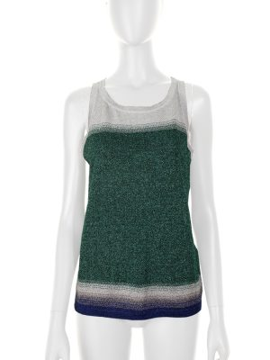 Green and Silver Sleeveless Lurex Top by Missoni - Le Dressing Monaco
