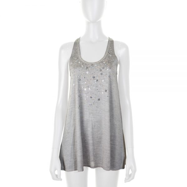 Grey Beaded Tank Top by Christian Dior - Le Dressing Monaco