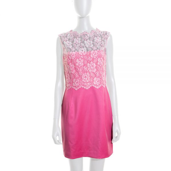 Cocktail Dress Lace Bodice by Valentino Techno Couture - Le Dressing Monaco