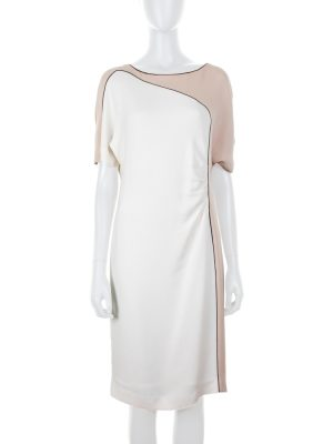 Short Sleeved Bicolor Dress by Escada - Le Dressing Monaco