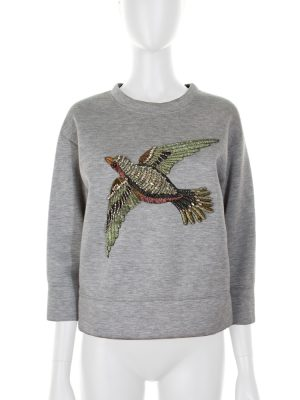 Embroidered Beads and Stones Bird Sweater by Gucci - Le Dressing Monaco