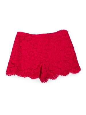 Red Amour Lace Shorts by Valentino - Le Dressing Monaco