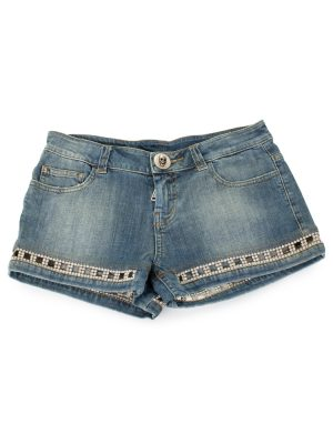 Denim Shorts With Strass by Philipp Plein - Le Dressing Monaco