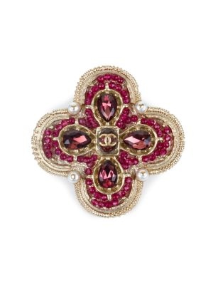 Round Cross Purple Brooch by Chanel - Le Dressing Monaco