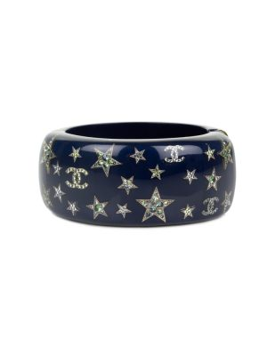 Blue Plexi Bracelet Strass Stars by Chanel - Le Dressing Monaco