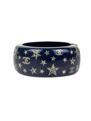 Blue Plexi Bracelet Strass Stars by Chanel - Le Dressing Monaco