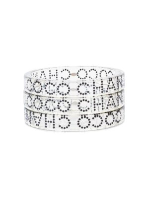 3 Transparent Coco Chanel Bracelets by Chanel - Le Dressing Monaco