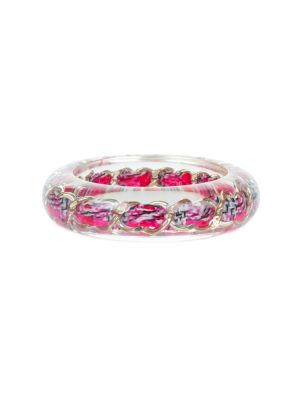 Pink Chain Transparent Bracelet by Chanel - Le Dressing Monaco